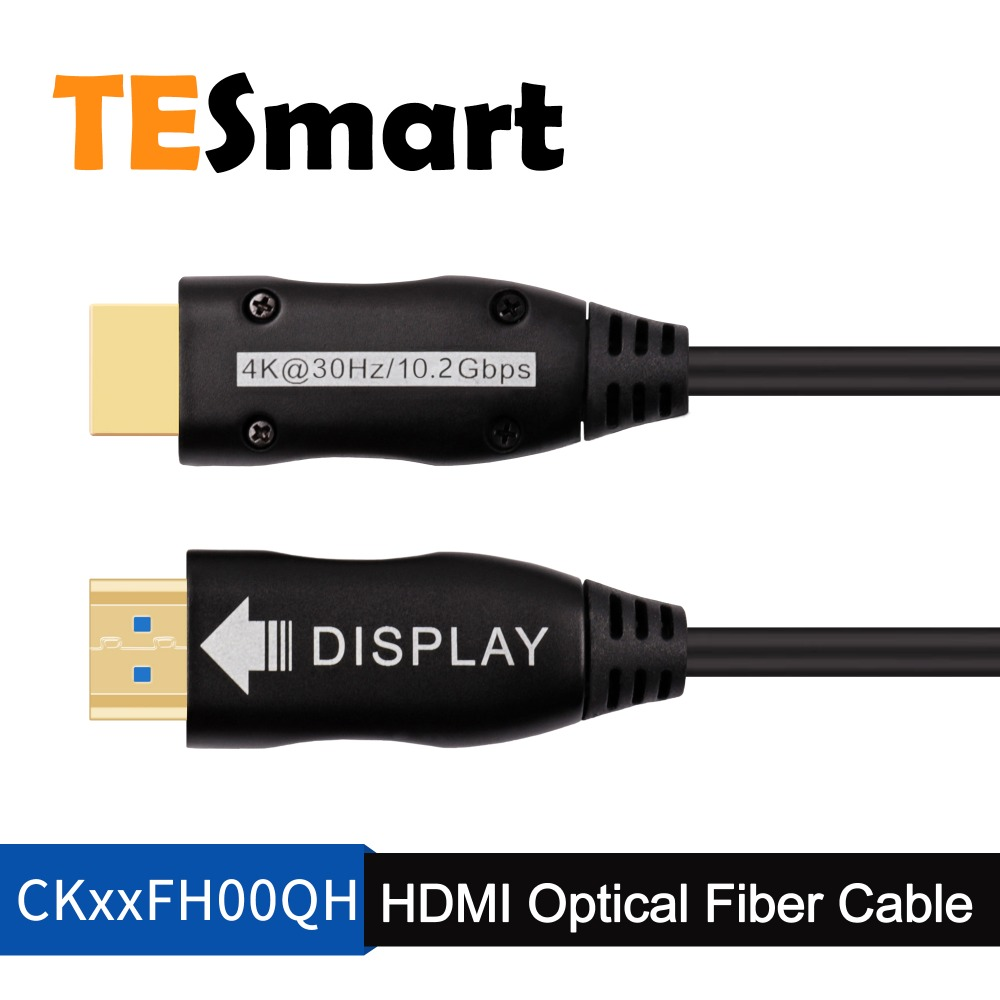 TESmart HDMI Cable 65FT 4K@60Hz 4:4:4 Fiber Optic HDMI Cable Support HDMI V2.0 Premium High Speed 18Gbps 3D 4K HDR Slim