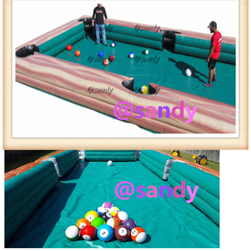 Free Air Ship To Doorxm Giant Inflatable Human Billiards Soccer - Human pool table