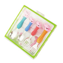 Peppa Pig Kid Feeder Utensils : Stainless Steel Baby Spoon and Fork