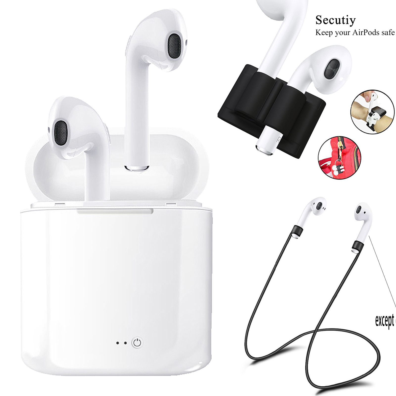 xiomi air pods I7S TWS I9S Bluetooth Earbuds Earphones Wireless Earpods Headset for Iphone Android 6 7 8 X Earphone ifans mini i9s twins earbuds mini wireless bluetooth earphones i7s tws air headsets pods stereo headphones for iphone android pc