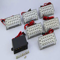 Red / Blue / White/Abmer6*22 132 LED Car Flash Strobe Emergency Warning Police Light 3 Flashing Modes