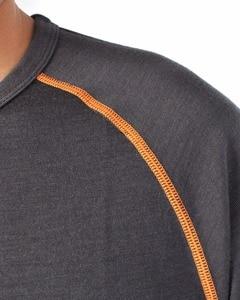 Image 2 - Mens 100% Merino Wool Long Sleeve Shirt Tops Base Layer Crew Out door Lock Thumb Holes Explorer Breathable Autumn Winter