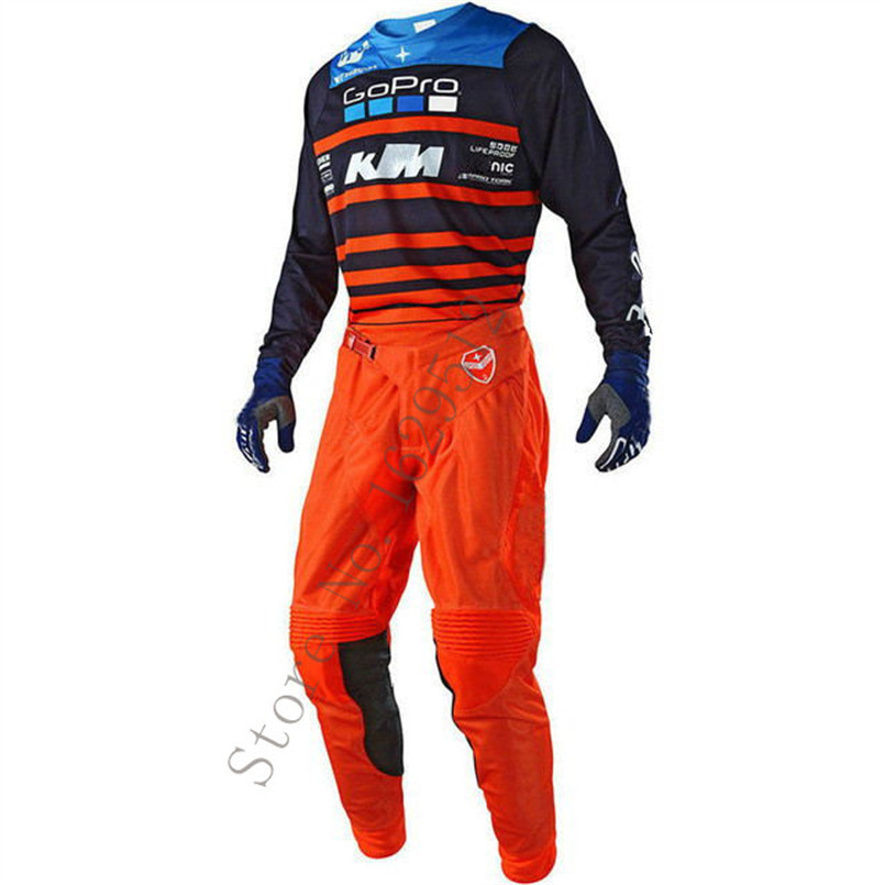 2018 SE AIR Streamline Combo Off-Road MTB DH MX Racing Jersey+Pants Motorcycle Dirt MotorBike Riding Gear Motocross Suit scoyco professional motorcycle dirt bike mtb dh mx riding trousers motocross off road racing hip pads pants breathable clothing