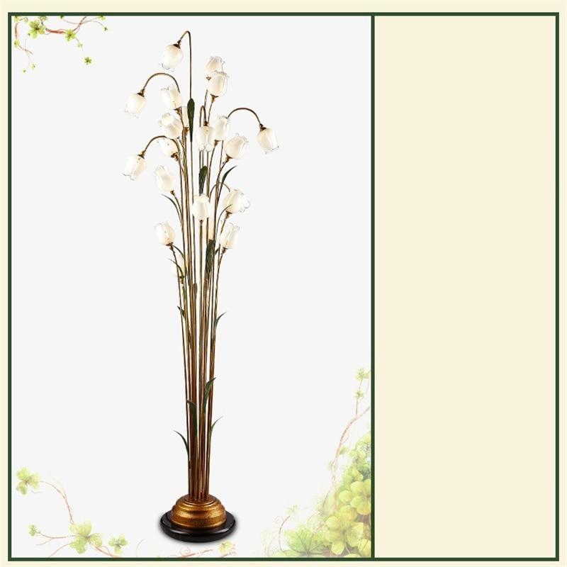 FUMAT Flowers Lámpara de pie Interior Retro Glass Art Decoración - Iluminación interior - foto 6