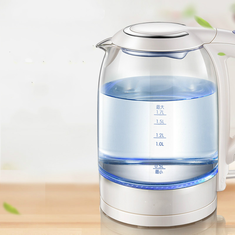 Electric kettle household 304 stainless steel tray glass electric kettle