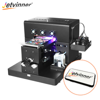 Jetvinner A4 size UV Printer Inkjet Flatbed Print Machine with emboss effect for Phone Case, leather, ABS,TPU, wood, pen, glass