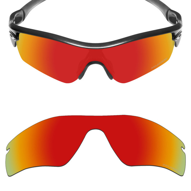 8c2ce1fe7bc Mryok+ POLARIZED Resist SeaWater Replacement Lenses for Oakley Radar Path Sunglasses  Fire Red