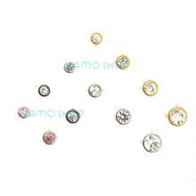 50pcs/lot 8mm Round A Grade Rhinestone Crystal Studs Spot Spikes Rivets Punk Leather Craft Bag