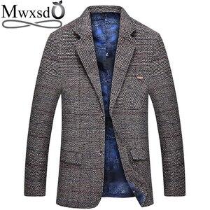 Image 1 - Mwxsd men casual woolen Suit Blazer jacket Mens Slim fit Suits Casual male blazer Suit Jacket blazer masculino homme