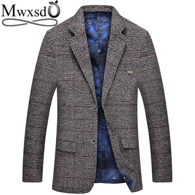 Mwxsd men casual woolen Suit Blazer jacket Mens Slim fit Suits Casual male blazer Suit Jacket blazer masculino homme