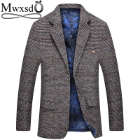 Mwxsd men casual woolen Suit Blazer jacket Men's Slim fit Suits Casual male blazer Suit Jacket blazer masculino homme