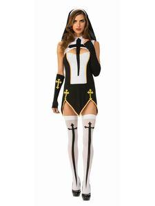 Image 4 - Women Sexy Bad Habit Nun Costume Christian Missionary Fancy Dress