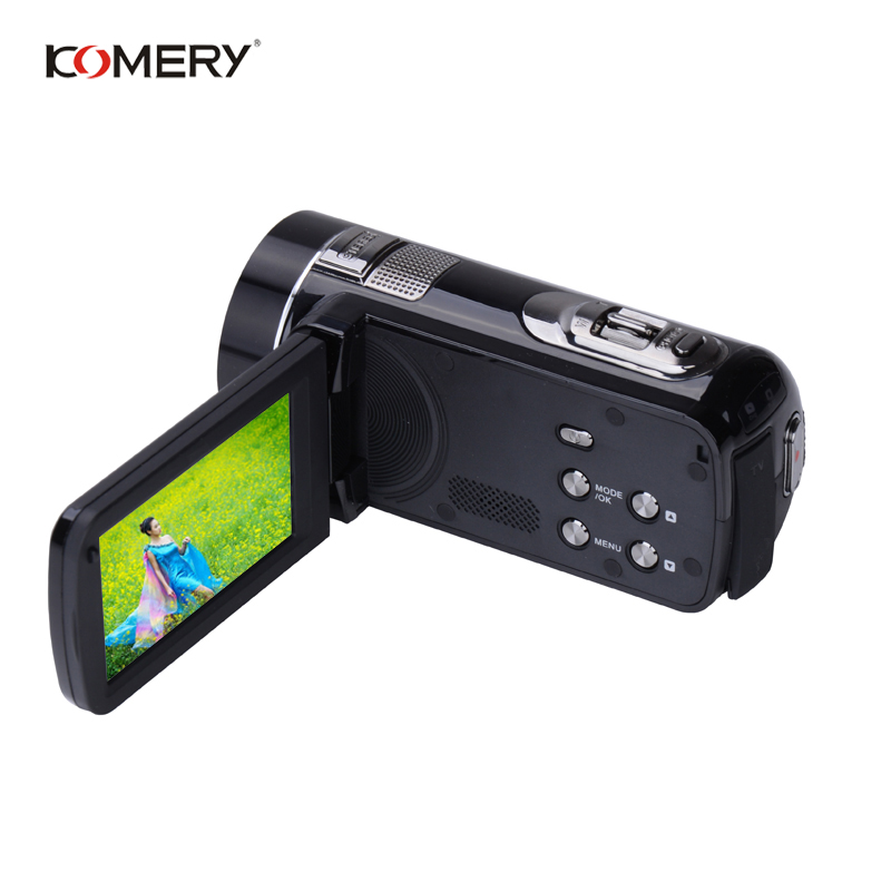 KOMERY Цифровая видеокамера Full HD 1080p портативные камеры-регистраторы 24 MP 16X цифровой зум 3,0 сенсорный экран цифровая камера Анти-встряхивания