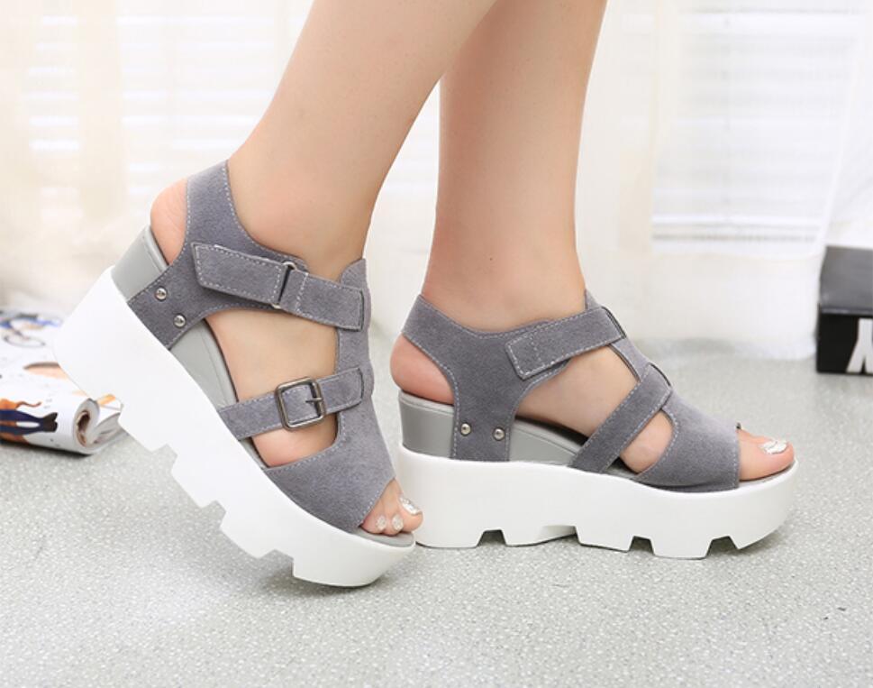 HTB1dSB0cOCYBuNkSnaVq6AMsVXar 2019 Summer Sandals Shoes Women High Heel Casual Shoes footwear flip flops Open Toe Platform Gladiator Sandals Women Shoes m693