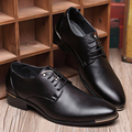 New style men oxfords British wedding leather shoes pointed toe lace up casual shoes fashion black men shoes Z073