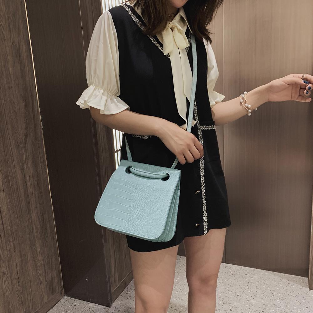 Image 3 - Crocodile Pattern Crossbody Bags For Women 2019 New Fashion Shoulder Messenger Bag Ladies Solid Color Handbag Travel Hand Bag-in Shoulder Bags from Luggage & Bags
