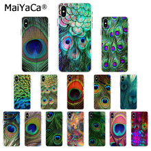 MaiYaCa Peacock สวยทิวทัศน์ Novelty Fundas สำหรับ Apple iphone 11 pro 8 7 66S Plus X XS MAX 5S SE XR ฝาครอบ(China)