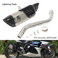 For 2008 2009 2010 2011 2012 Suzuki GSXR 1000 Motorcycle Exhaust System Mid Link Elbow Tail Escape No DB Killer Slip On Modified