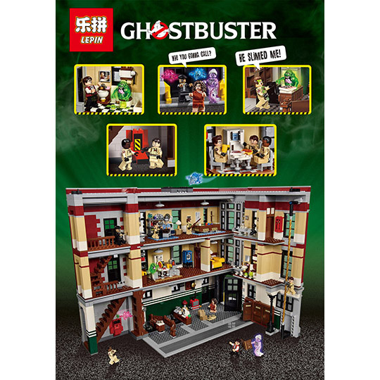 LEPIN 16001 4695Pcs Ghostbusters Firehouse Headquarters Model Building Kits Model set Toys For Children Compatible With 75827