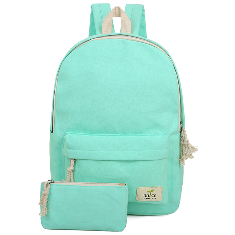 child mother canvas backpack Leisure student Travel Backpack