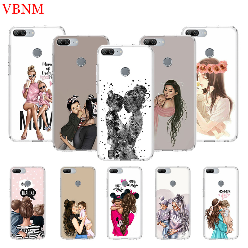 Baby Mom <font><b>Girl</b></font> Printing Protect Phone <font><b>Case</b></font> for <font><b>Huawei</b></font> Honor 8X 20 9 10 Lite 8A Pro 10i 20i 8S V20 Y5 Y6 <font><b>Y7</b></font> Y9 <font><b>2019</b></font> Prime Cover image
