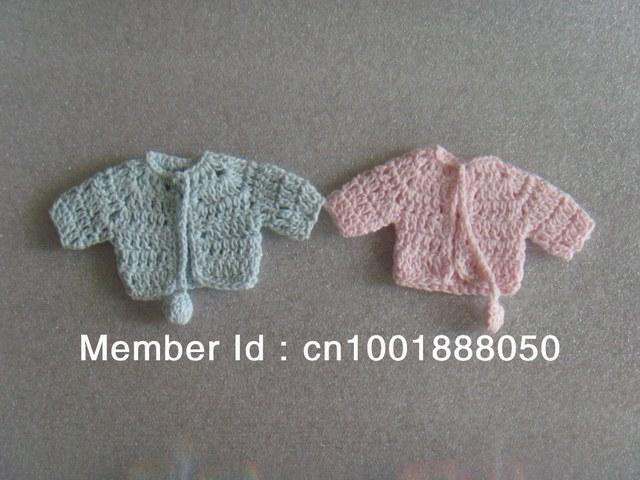 Baby Shower Favors Baptism Favors Mini Knitted Clothes Mini Crochet Clothes