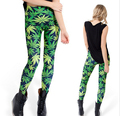 Free size NEW Fashion Women's weed sexy  Girl Leggings Pants digital printing Galaxy Adventure Time