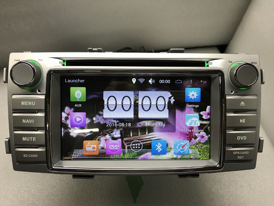 Autoradio Audio DVD lecteur multimédia Android 6.0 GPS Navigation pour Toyota hilux 2012-2015 détail/Pc livraison gratuite