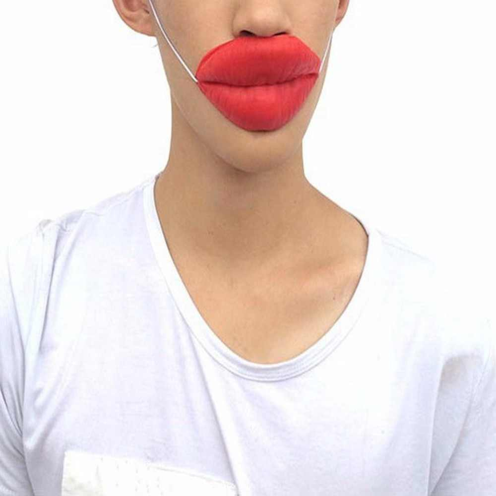 Sexy usta nadęty usta rekwizyty żarty kiełbasa czerwone usta grube usta Halloween śmieszne Horror maski lateksowe Birthday Party magiczne rekwizyty