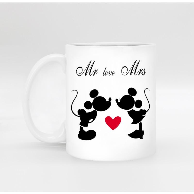 Freies verschiffen Lustige neuheit Mickey Maus Keramik weiß kaffee ...