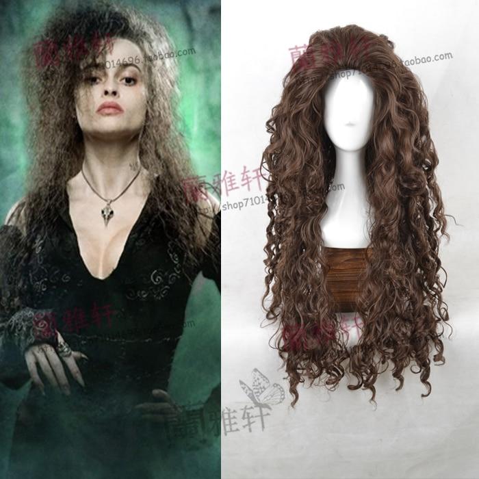 Free Hair Net+women Bellatrix Wig Women Long Wavy Hair Wig Witch Bellatrix Lestrange Costumes