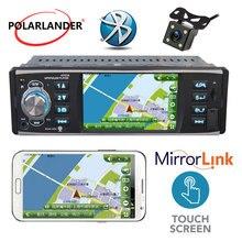Specchio di Collegamento radio cassette player HD USB/SD/FM Dello Schermo Autoradio 1 Din Auto Radio Lettore MP5 4 pollici Stereo Bluetooth