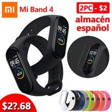 2019 Xiaomi Mi Band 4, Умные часы цветной экран Bluetooth 5.0 Смарт-браслет Фитнес-сердечный ритм 135 мАч Смарт-браслет Смарт-часы Браслет здоровья смарт браслет фитнес браслет