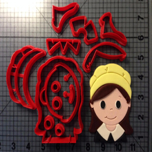 Cartoon TV Character Mulan Pilgrim Girl  Cookie Cutter Fondant Cupcake Top Made 3D Printed tools Cake Decorating Tools