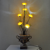 Creative vintage retro LED energy saving decorative lights night light Chinese style living room bedroom mobiles new home gifts