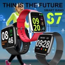 S7 Smart Bracelet Heart Rate Blood Pressure Monitor Call Message Reminder Fitness Tracker Waterproof Women Men Smart Watch