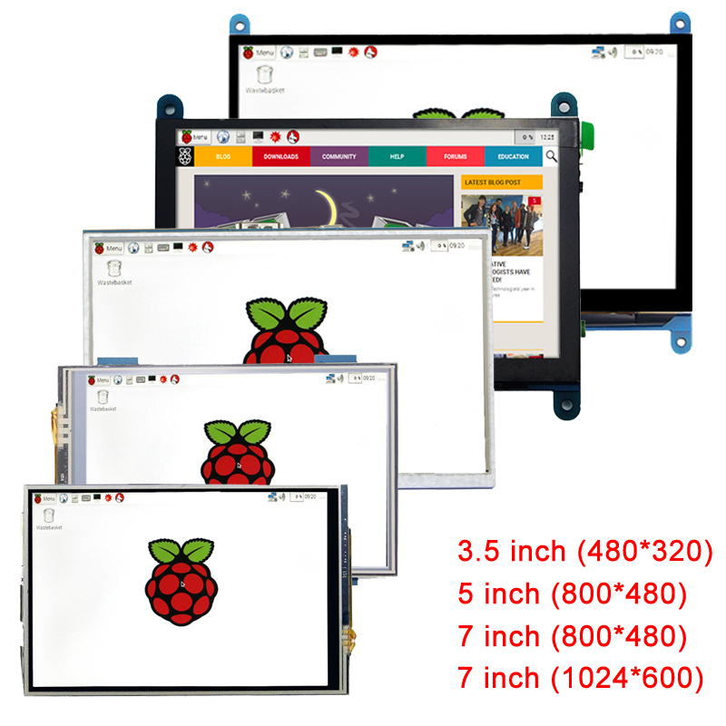 For Raspberry Pi 3 Screen 3.5/5/7 Inch LCD Touchscreen Display Module Monitor For Raspberry Pi 3 Model B 3B Plus