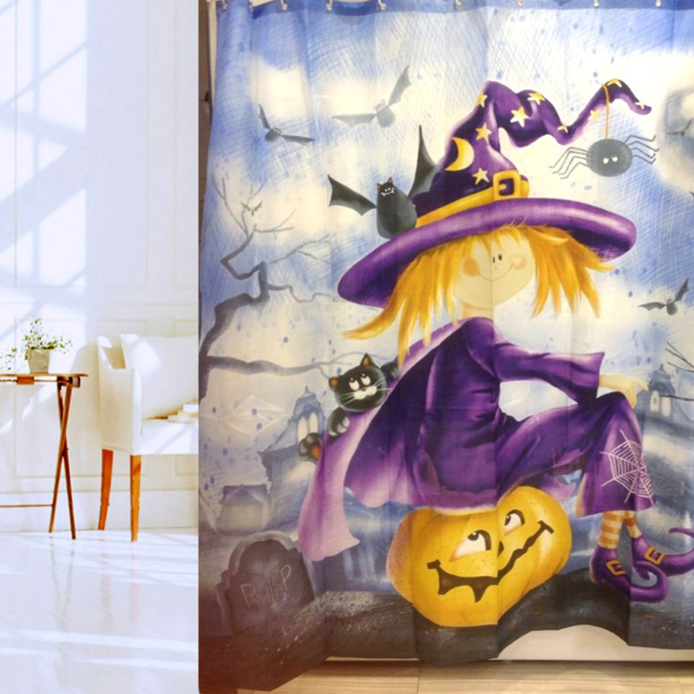 Halloween shower curtains target - Halloween Shower Curtain Hooks Halloween Waterproof Shower Curtain Bathroom Products Polyester Bath Curtain Home Decoration