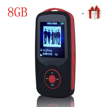 Portable Hi-Fi 8GB Bluetooth MP3 Music Player with FM Radio Voice Recorder 50 Hours Lossless Playing Supports up to 64GB Red