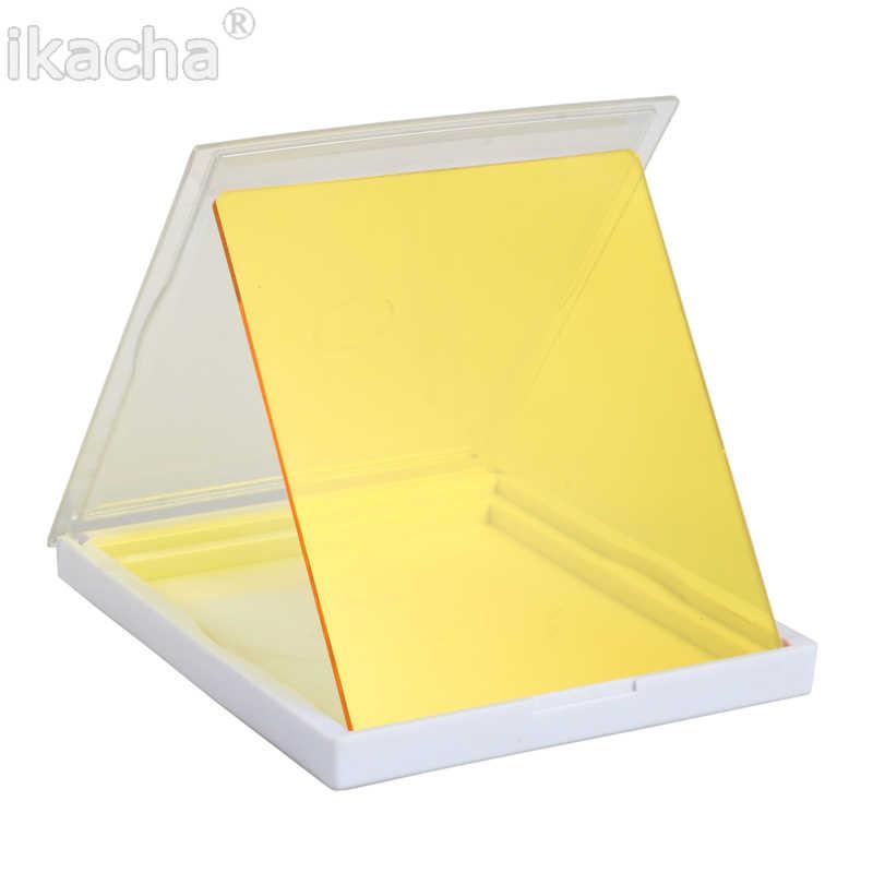 Amarillo Correcci/ón de Filtro de Gel Cuadrado Filtro de Luz Superposiciones de Color KESOTO 2X Blanco