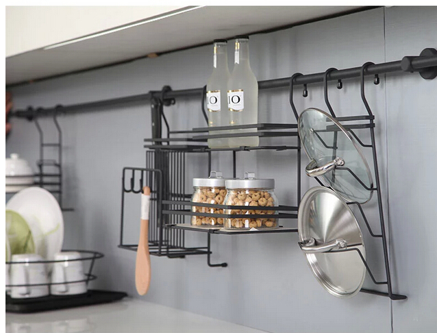 Aliexpress Com Buy Stainless Steel Kitchen Hang Hang Lever The Cover Frame Head Seasoning Frame The Hanging Shelf In The Kitchen From Reliable Shelf