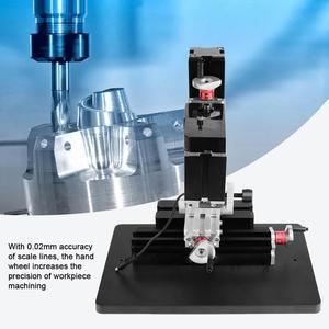 Image 5 - 60W 12000R Mini Milling Lathe Metalworking Woodworking Lathe DIY Miniature Normal Manual Milling Machine Y Z Axle Mini Miller