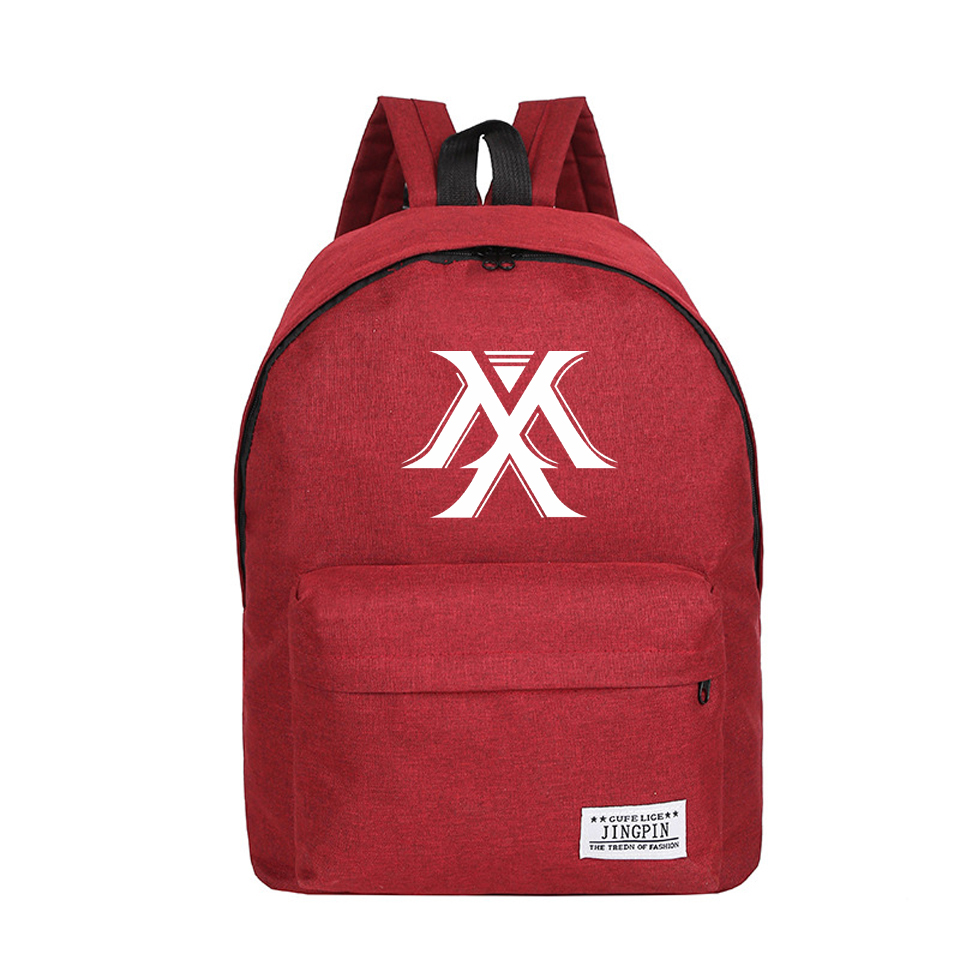 Monsta X Backpack Kpop Style Canvas Hip Hop Man/Female Harajuku School Bag Funny Mochila Stylish 2019 Summer Bag