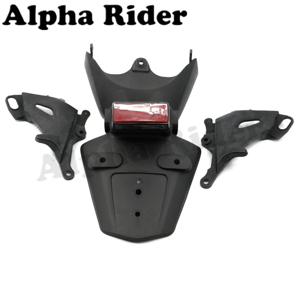 Exhaust Support Side Guard Fairing Cover Rear Mudguard Fender License Plate Tag Holder w/ Light for Honda CBR1000RR 2006-2007 front plastic number plate fender cover fairing for honda crf100 crf80 crf70 xr100 xr80 xr70 style dirt pit bike
