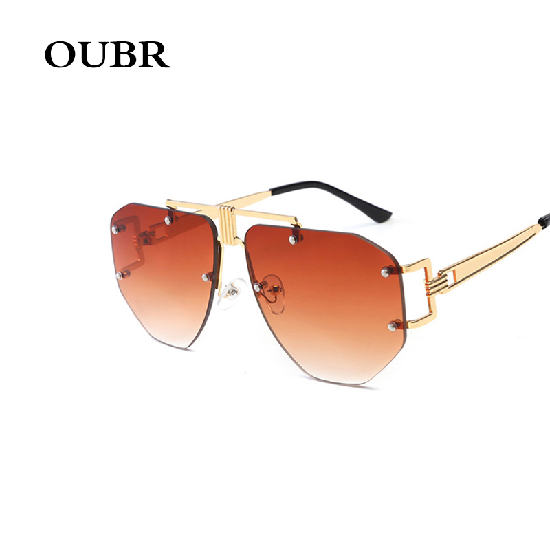 OUBR Men and women polygon trend sunglasses brand design fashion sunglasses luxury quality sunglasses UV400 ladies sunglasses