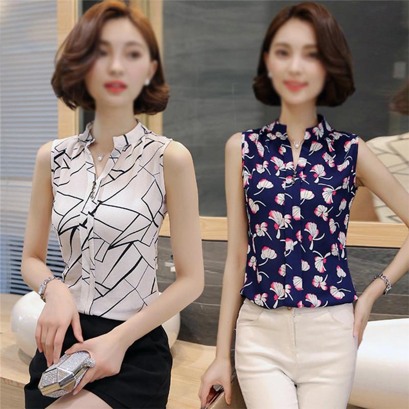 HTB1dSDgQVXXXXbzXpXXq6xXFXXX8 - Sleeveless Chiffon Office Shirts Blusa Womens 3XL Plus Size Tunic
