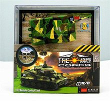 1:72 Remote Control Mini RC tank with Sound Rotating Turret and Recoil Action When Cannon Artillery Shoots