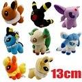 8 шт./компл. аниме покемон пикачу плюшевые игрушки 13 см покемон Eevee кукла для детских игрушек