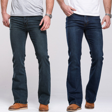 Mens Boot Cut Jeans Slightly Flared Slim Fit Famous Brand Blue Black jeans Designer Classic Male Stretch Denim jeans cheap Solid Casual 3955 HAN DI LONG Midweight None Softener Zipper Fly Full Length Cotton Polyester Spandex 27 28 29 30 31 32 33 34 35 36 38 40