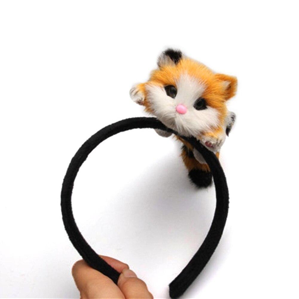 Mooie Kat Hoofdband Flanellen Pluche Kitten Haarband Halloween Chirsmas Party Hoofdtooi Haar Accessoires Voor Meisjes 2018 50% Korting